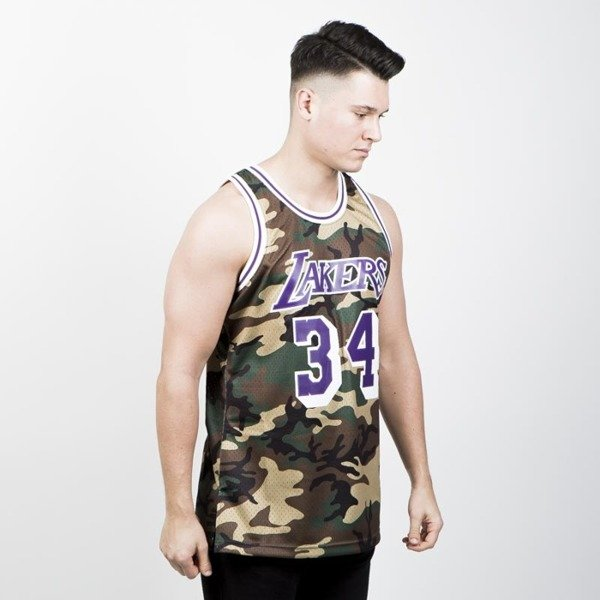 Koszulka Mitchell & Ness Los Angeles Lakers #34 Shaquille O'Neal camo Swingman Jersey