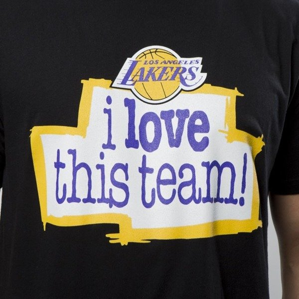 Koszulka Mitchell & Ness Los Angeles Lakers T-shirt black I Love This Team Tailored