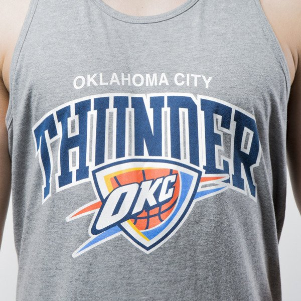 Koszulka Mitchell & Ness tank top Oklahoma City Thunder grey heather Team Arch Tank