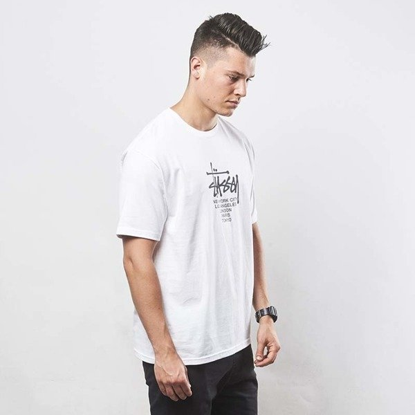 Koszulka Stussy t-shirt Big Cities Tee white
