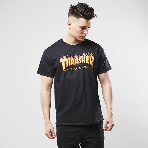 Koszulka Thrasher t-shirt Flame Logo black