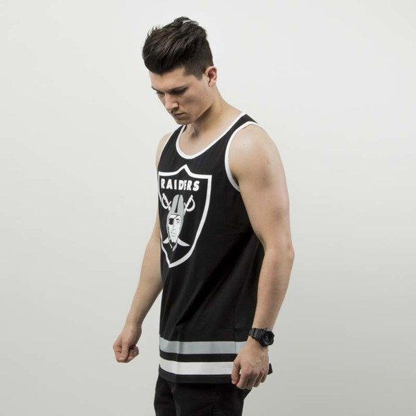 Koszulka Tnak top Majestic Athletic Revar Large Graphic Vest Oakland Riders deep black MOR2714DB