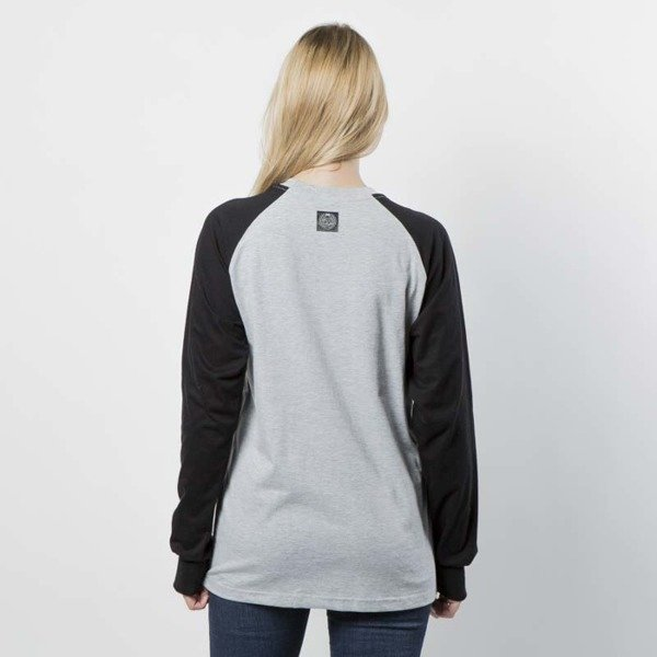 Koszulka damska Mass Denim Longsleeve Base Reglan WMNS light heather grey / black