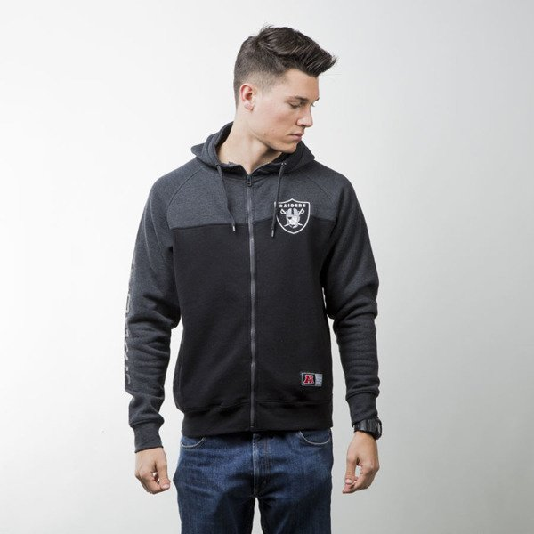 Majestic Athletic bluza Croco Cut&Sew Full Zip Hoody Oakland Raiders charcoal MOR2363E3