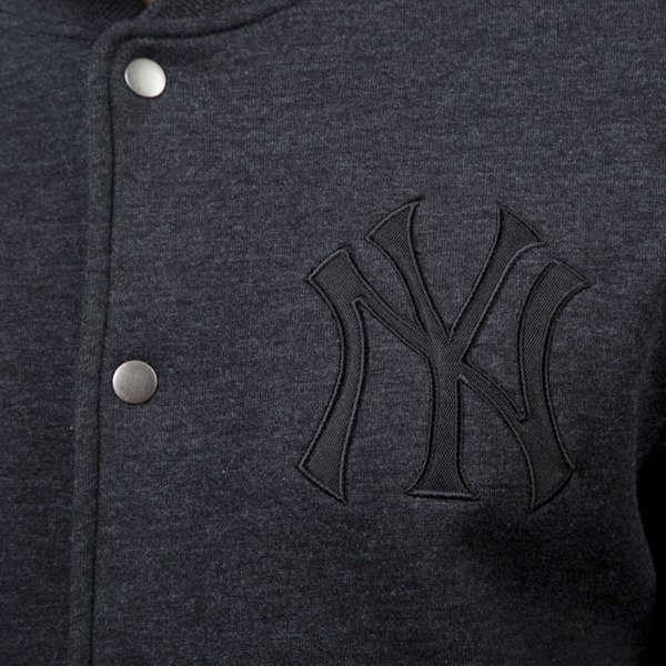Majestic Athletic kurtka Emodin Fleece Letterman Jacket New York Yankees charcoal MNY2360E3