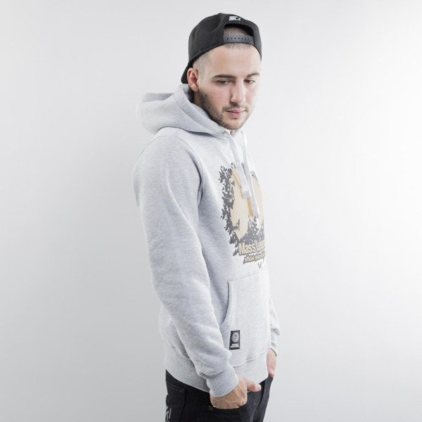 Mass Denim bluza Legends Hoody light heather grey