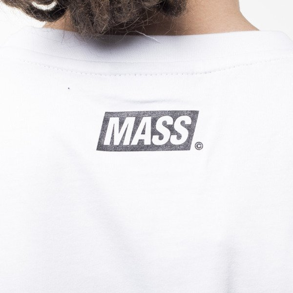 Mass Denim koszulka t-shirt Horizon light heather grey / black
