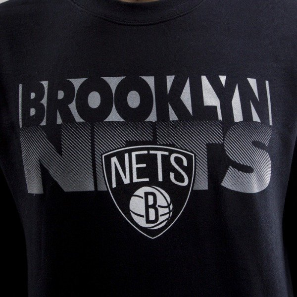 Mitchell & Ness bluza Brooklyn Nets crewneck  black Team Shadow