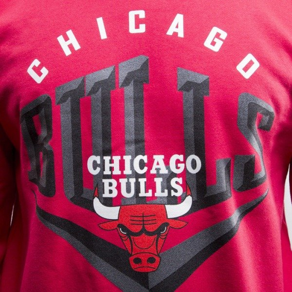 Mitchell & Ness bluza Chicago Bulls red Beveled Logo