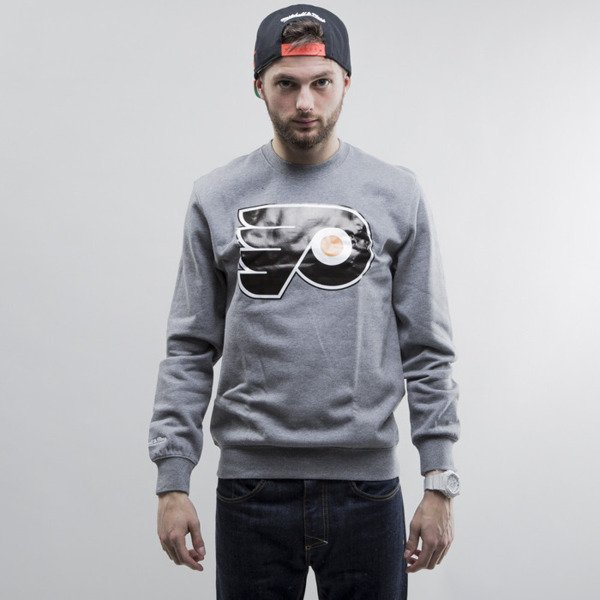 Mitchell & Ness bluza crewneck Philadelphia Flyers heather grey Team Logo