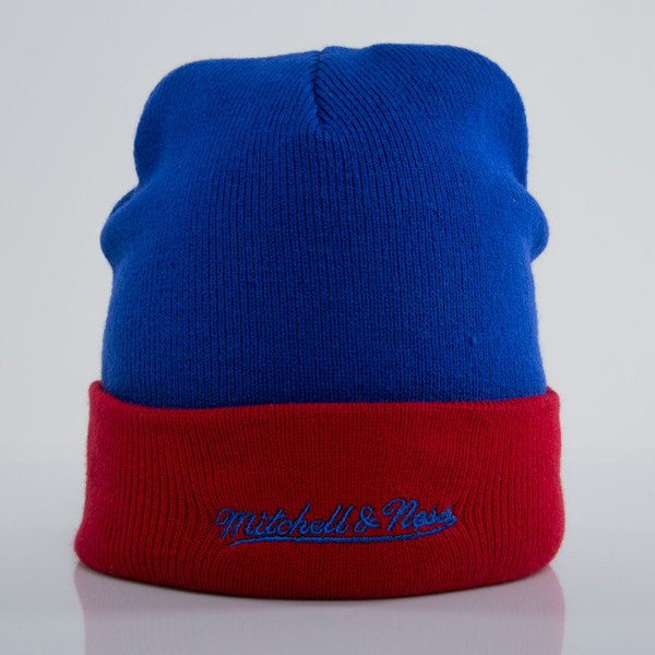 Mitchell & Ness czapka Los Angeles Clippers blue Arched Cuff Knit EU349