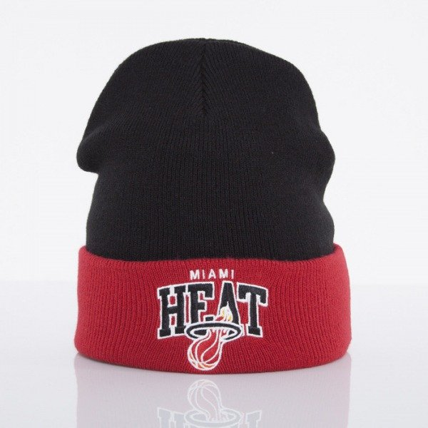 Mitchell & Ness czapka Miami Heat black Arched Cuff Knit EU349