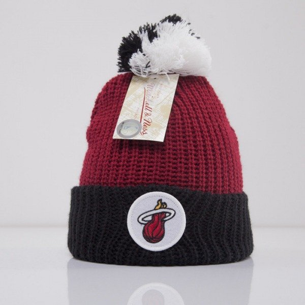 Mitchell & Ness czapka Miami Heat burgundy Retro Patch KN34Z