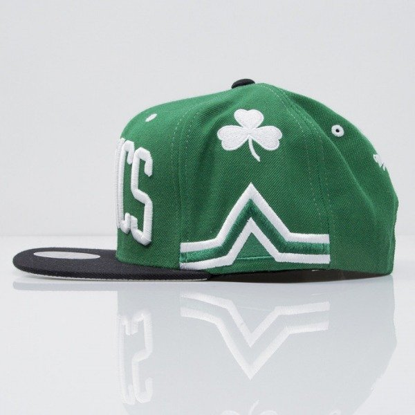 Mitchell & Ness czapka snapback Boston Celtics green Team Short Jersey VF61Z