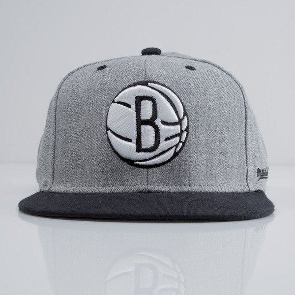 Mitchell & Ness czapka snapback Brooklyn Nets heather grey EU438 BACKBOARD