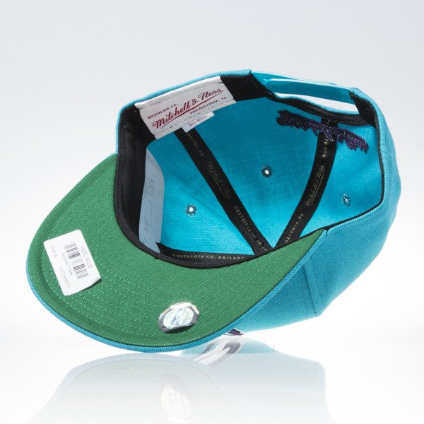 Mitchell & Ness czapka snapback Charlotte Hornets turquoise WOOL SOLID NL99Z
