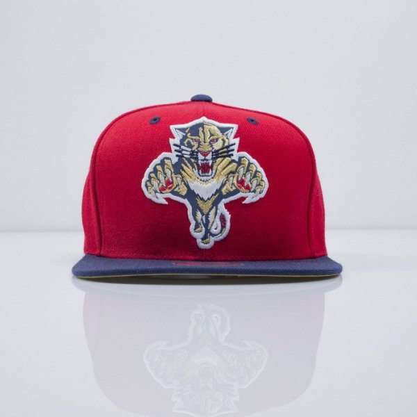 Mitchell & Ness czapka snapback Florida Panthers red Reflective XL Logo VF52Z