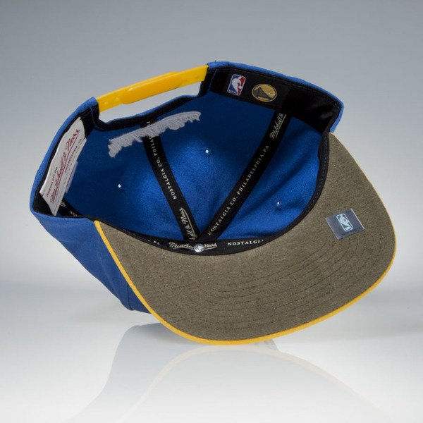 Mitchell & Ness czapka snapback Golden State Warriors blue / yellow Sandy Off White VV16Z