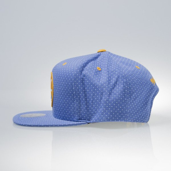 Mitchell & Ness czapka snapback Golden State Warriors royal DOTTED COTTON VQ94Z