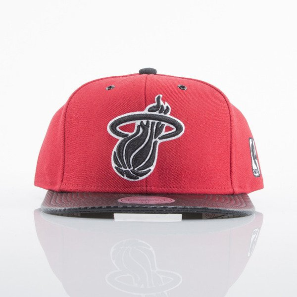 Mitchell & Ness czapka snapback Miami Heat red EU501 SPEEDWAY