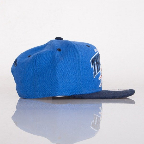 Mitchell & Ness czapka snapback Oklahoma City Thunder blue / black Doubleup