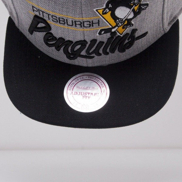 Mitchell & Ness czapka snapback Pittsburgh Penguins grey City Bar NL99Z