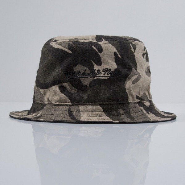 Mitchell & Ness kapelusz bucket hat Reversible brown / camo (EU409)
