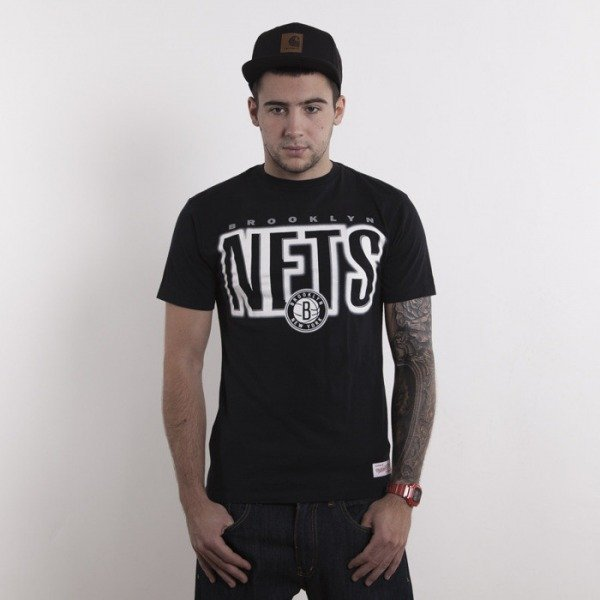 Mitchell & Ness koszulka Brooklyn Nets black  Retro Blur