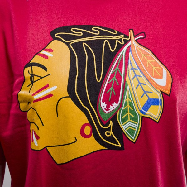 Mitchell & Ness koszulka Chicago Blackhawks red Team Logo Traditional