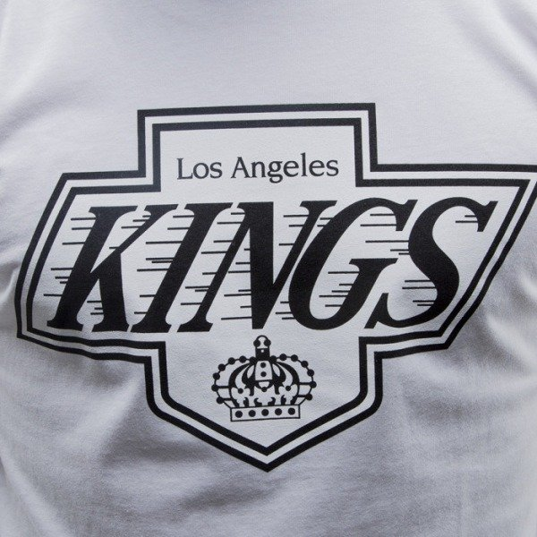 Mitchell & Ness koszulka Los Angeles Kings white Black and White Logo