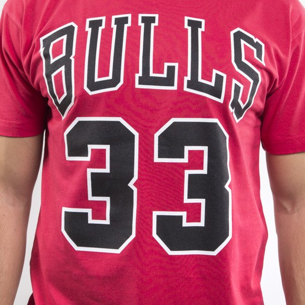 Mitchell & Ness koszulka t-shirt Chicago Bulls red Player Name & Number Traditional