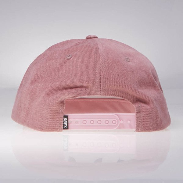 Obey czapka New Deal 6 Panel Hat dusty red