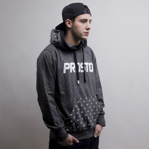 Prosto bluza KL Hoody Template anthracite/heather grey