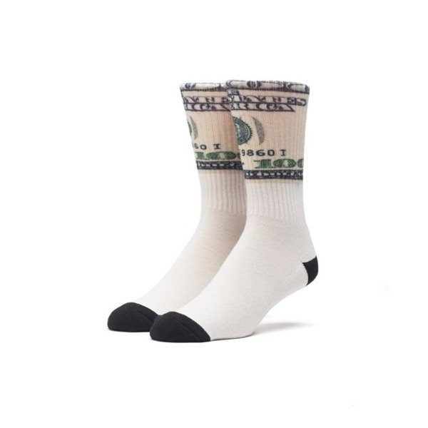 Skarpety HUF Dolla Bills Crew Sock coca white