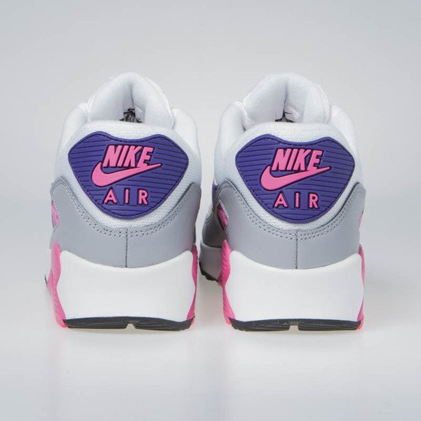 Sneakers Buty Nike WMNS Air Max 90 white/court purple-wolf grey (325213-136)