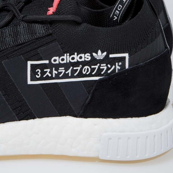 Sneakers buty Adidas Originals NMD Racer PK core black/bluebird (BB7041)