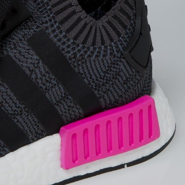 Sneakers buty Adidas Originals NMD_R1 PK WMNS core black / shock pink BB2364