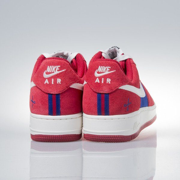 Sneakers buty Nike Air Force 1 Low gym red / sail-deep royal blue (488298-626)