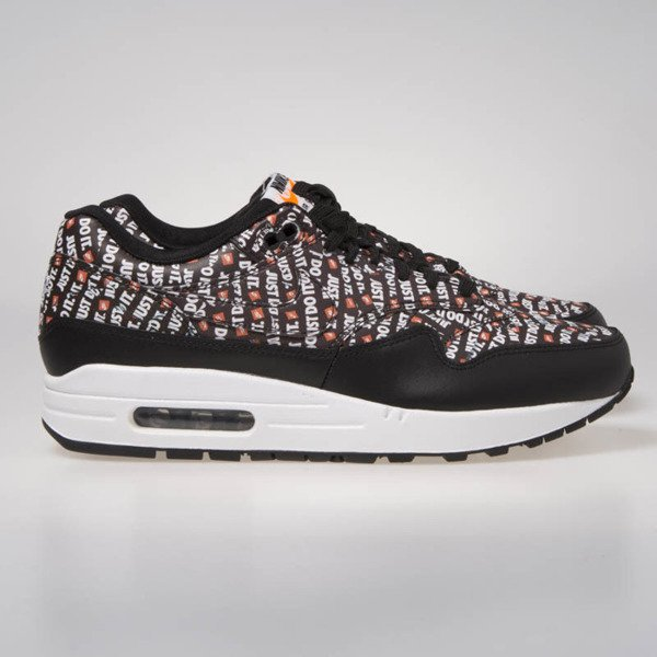 Sneakers buty Nike Air Max 1 Premium black/white-total orange (875844-009)