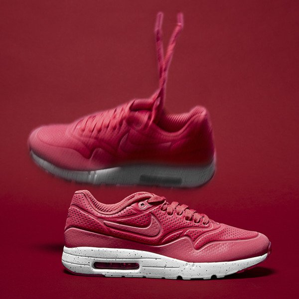 Sneakers buty Nike Air Max 1 Ultra Moire terra red / terra red-white (705297-611)