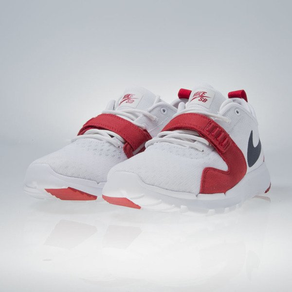 Sneakers buty Nike SB Trainerendor white / obsidian-university red (616575-146)