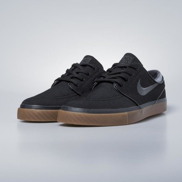 Sneakers buty Nike SB Zoom Stefan Janoski CNVS black / anthracite - gum med brown 615957-020