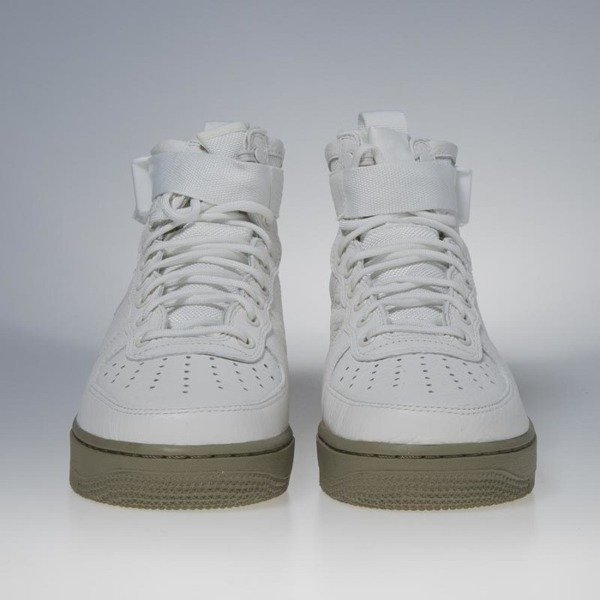 Sneakers buty Nike SF Air Force 1 Mid ivory / ivory - neutral olive 917753-101