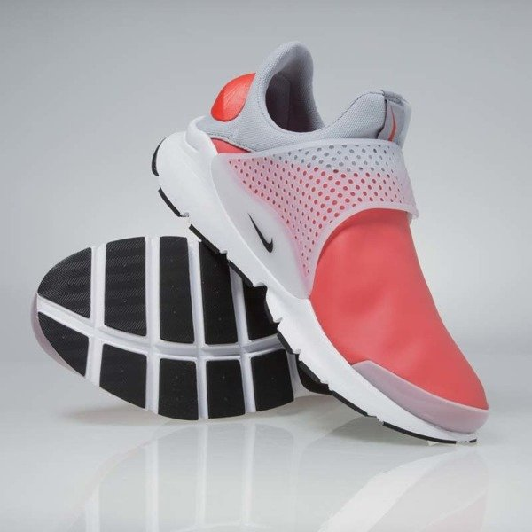 Sneakers buty Nike Sock Dart SE max orange / black - wolf grey 911404-800