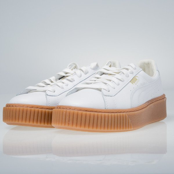 Sneakers buty Puma Basket Platform Core white 364040-01