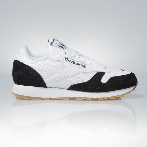 Sneakers buty Reebok Classic Leather SPP Perfect Split Kendrick Lamar white black - gum (AR1894)