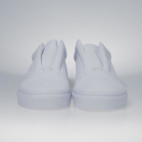 f56e87dd8b9330 ... Sneakers buty Vans Old Skool Laceless (Leather) true white VN0A3DPCL3H  ...