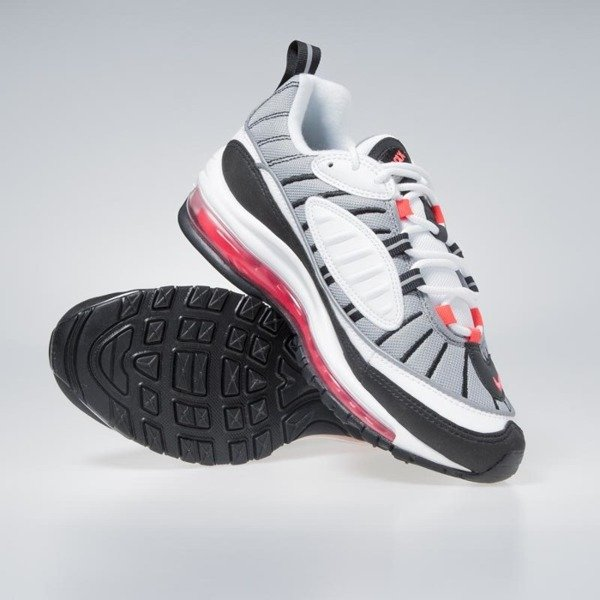 new product 70568 bd3cc Sneakers buty damskie Nike Air Max 98 white/solar red-dust AH6799-104