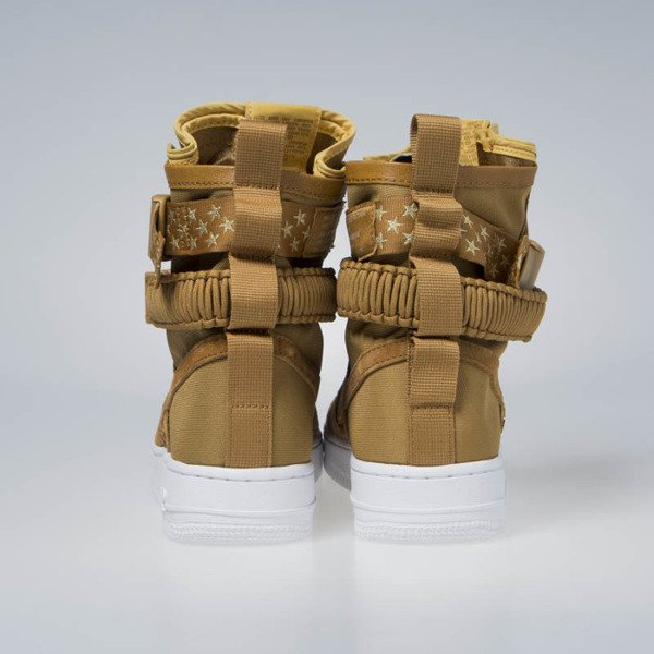 Sneakers buty zimowe WMNS Nike SF AF1 muted bronze (857872-203)
