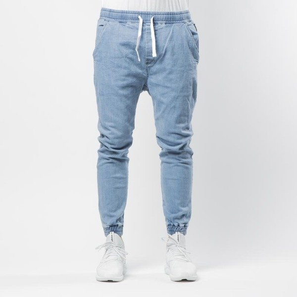 Spodnie Mass Denim Campus Joggers Jeans Sneaker Fit light blue